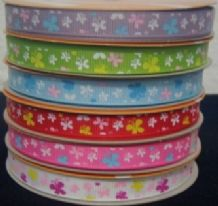 10mm COLOURFUL BUTTERFLIES GROSGRAIN RIBBONS